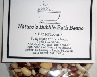 Gag gift,Nature's Bubble Bath Beans