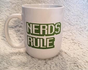 Nerds rule mug
