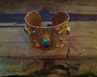 Three Turquoise Stone Bracelet