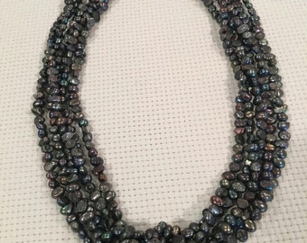 black and gray freshwater pearls