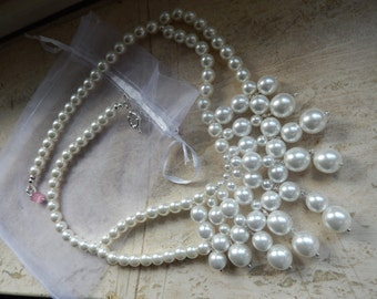 Maxi necklace with Swarovski pearls