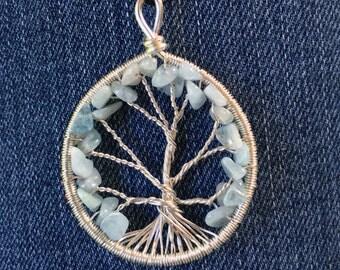 Aquamarine Tree of Life