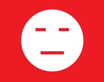 Annoyed Emoji Vinyl Decal