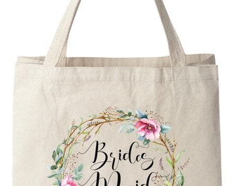 Tote Bags, Bridesmaid Bags, Bridesmaid Tote Bag, Wedding Tote Bag, Bridal Tote Bag, Wedding Bag, Floral Tote Bag, Canvas Tote Bag