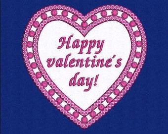 Heart Applique design, Machine Embroidery Design, Happy Valentines day, Instant Download
