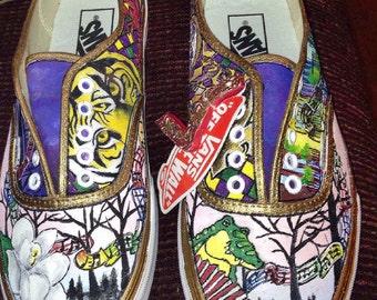 Louisiana Handpainted Shoes