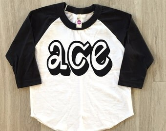 80's tshirt - Ace - baby boy or girl clothes toddler shirt- toddler tshirt
