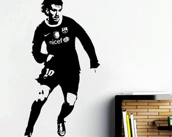 kik2879 Wall Decal Sticker Football Soccer Player bedroom living room