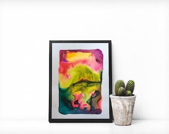 Original Abstract Watercolor