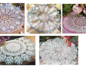 5 pcs crochet doily pattern-only diagram-in pdf-14