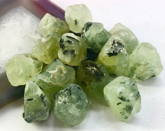 17-20mm Freeform drilled prehnite rough nugget jewelry beads