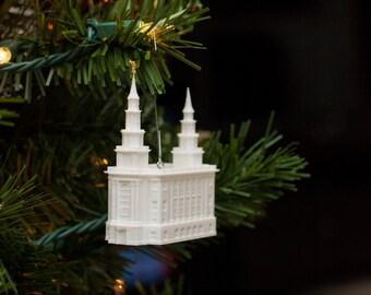 Philadelphia, PA LDS Temple Christmas Ornament