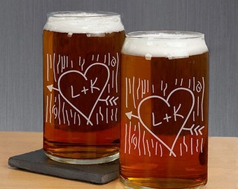 Engraved Beer Can Glasses (set of 2)