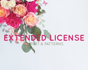 Extended License for Clipart and Seamless Patterns - Add on