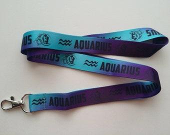 Aquarius Astrology Lanyard