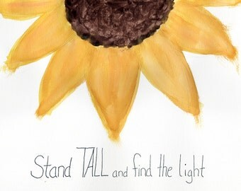 Sunflower Motivational Painting