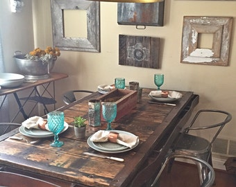 Antique Railroad Cart Dining Table