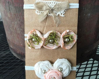 Set of 3 Newborn Girl Headbands * Great Photography Props! * Free shipping in US!