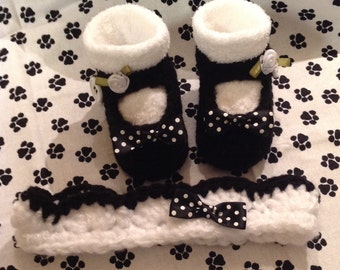 Baby Booties and Headband