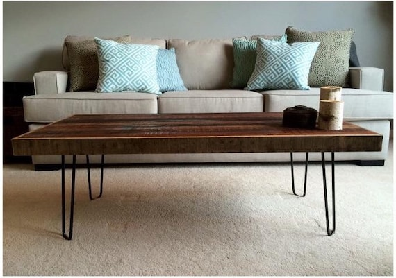 Reclaimed Thin Strip Coffee Table