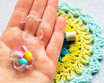Flower heart star shaped storage box, pill box, pillendoosje, snailmail, 3 pcs