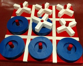 Tic Tac Toe Game - Red, White, & Blue