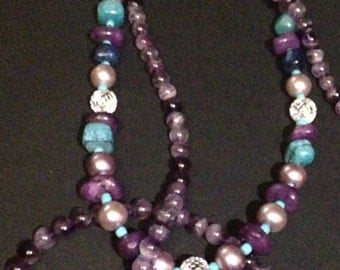 Shades of purple neclace