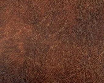 Faux leather antique chestnut 50 x 70 cm piece