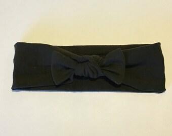 Dark Olive Bow Headband