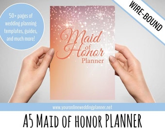 ULTIMATE Maid of Honor Planner A5, Wedding Organizer, bridesmaid planner book, bridesmaid gift, maid of honor gift