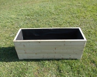 Large Wooden Planter / Window Box / Flower Planter / Herb Planter / Extra Wide