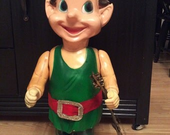 Vintage Blow mold Christmas Elf