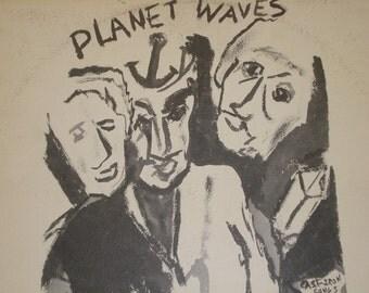 Bob Dylan record album Planet Waves vintage vinyl record