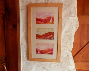 abstract landscape triptych original abstract painting