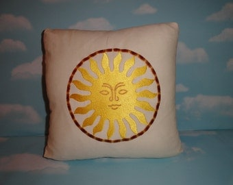 Pillow - Sun - Embroidered