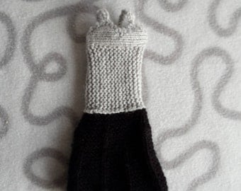 Grey-and-black evening dress for barbie dolls