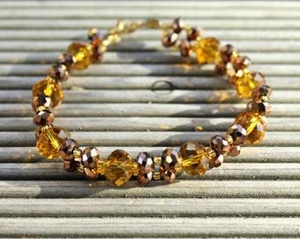 handmade bracelets with glass beads