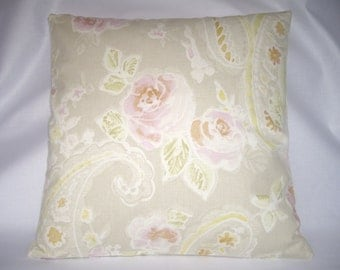 Vintage, shabby chic roses cushion cover.