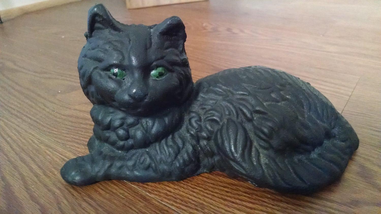 Amigurumi Black Cat Door Stopper : Black Cat Door Stop