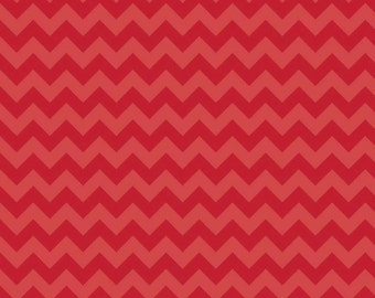 Riley Blake, Small Chevron, Tone on Tone Red, fabric by the yard