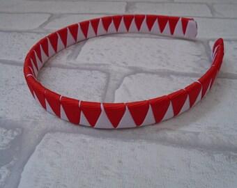 School hair accessory, school uniform headband made to match uniform, alice band, school zigzag headband school colours two colour hairband