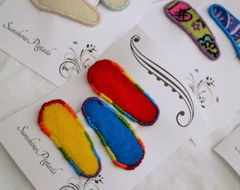 Toddler barrettes -rainbow-  (3 barrettes)