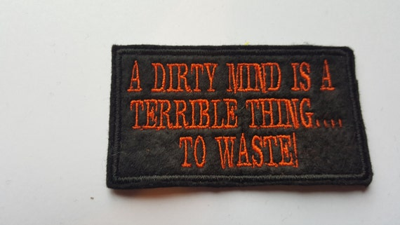 A dirty mind funny motorcycle patch biker club team