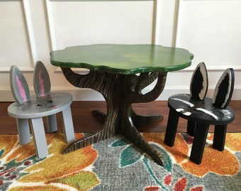 Woodland Wonderland Tree Table set (table + 2 stools)