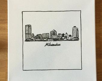 Milwaukee Skyline Painting