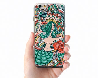soft clear tpu case back cover for htc one m7 m8 m9 desire eye 320 520 820 mermaid