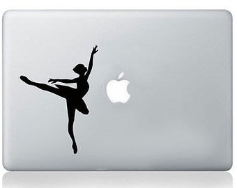 Dancing Ballerina Silhouette Macbook Laptop Decal Vinyl Skin Sticker Mural Art
