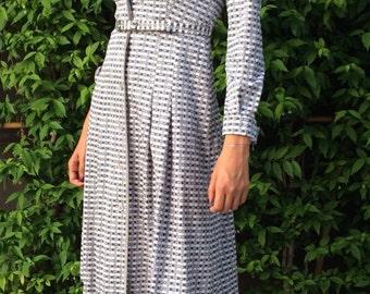 Vintage dress, 1980s dress, retro dress,