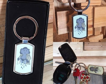 Cloud Keychain, 'Silver Lining' Metal Key Ring Gift