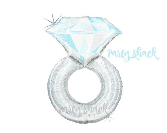 engagement ring balloon silver ring balloon 38